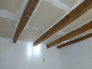 beamed ceilings downstairs