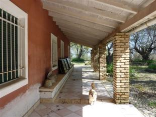 covered verandah outside the old olive press