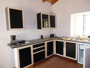 the newly installed kitchen