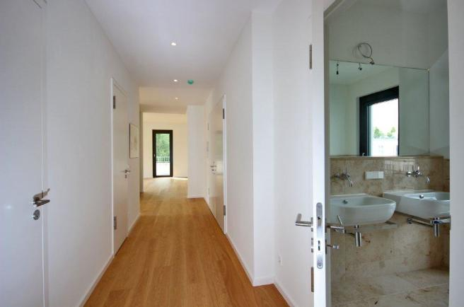 entry and bathroom