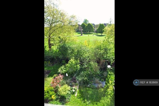 View Of Garden & Brockwell Park From Living Room
