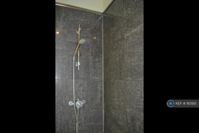 Shower With Marbel Tiling
