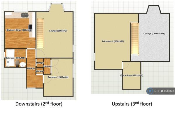 Split Level Floorplan