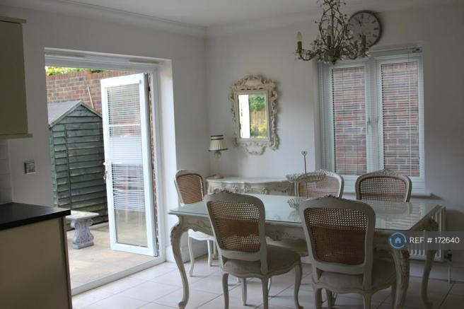 Dining Area With Patio Doors Onto The Garden