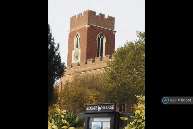 Staines Village Church At The End Of The Road