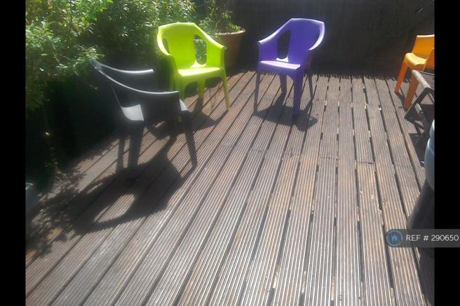 Sun Trapped Decking Area