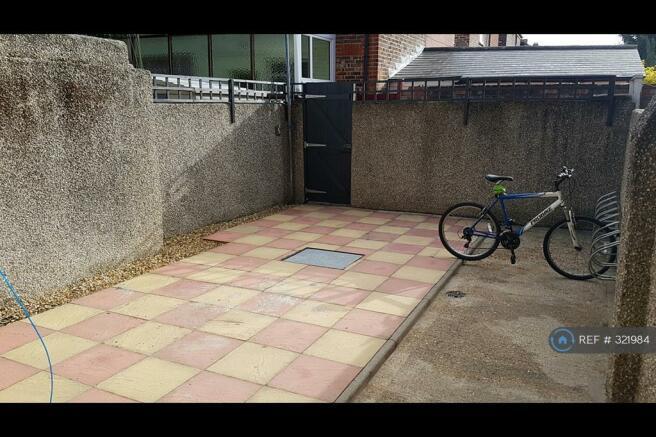 Back Garden With Secure Bike Storage