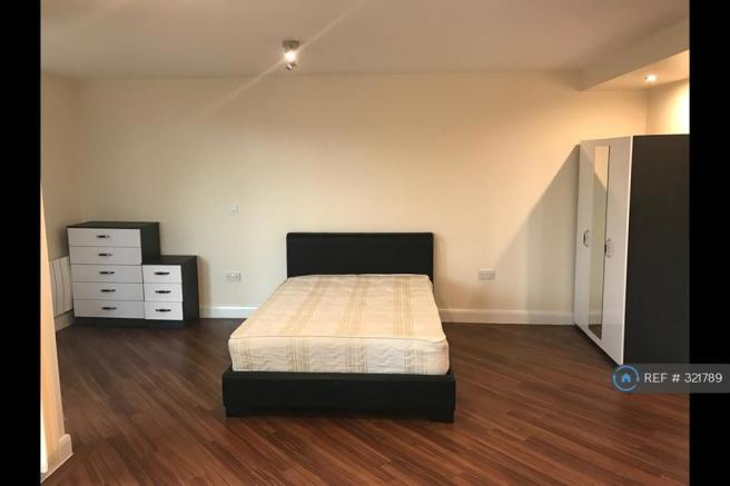 Large Leather Double Bed
