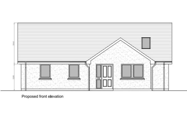 Front Elevation Planning Permission : Plot for sale in beeswing dumfries galloway