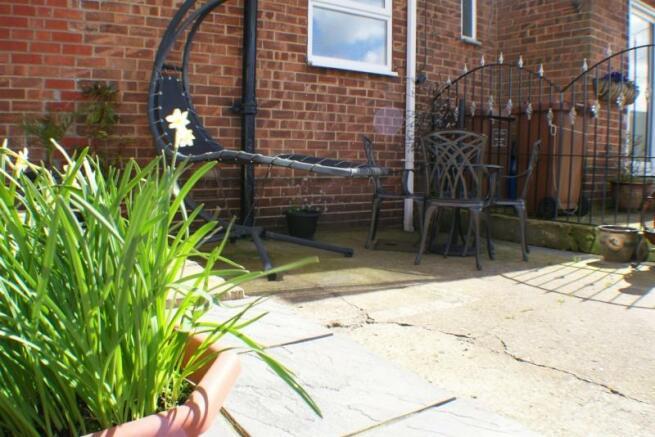 Rear Garden Patio Area