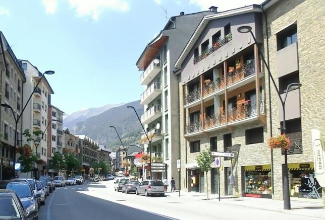 Main street of town