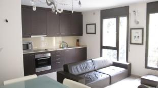 Living and kitchen