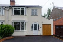 3 bedroom semi detached home in Balden Road, Harborne...
