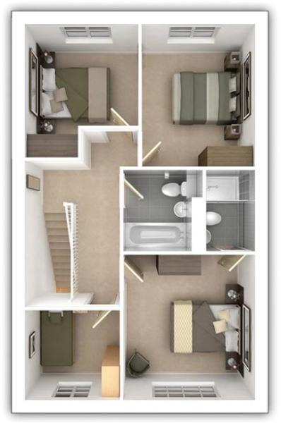 The Midford - 4 bedroom first floor plan