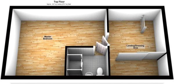 3D top floor plan