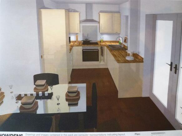 kitchen / dining vie