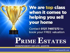 Get brand editions for Prime Estate Agents Uk Ltd, Castle Bromwich