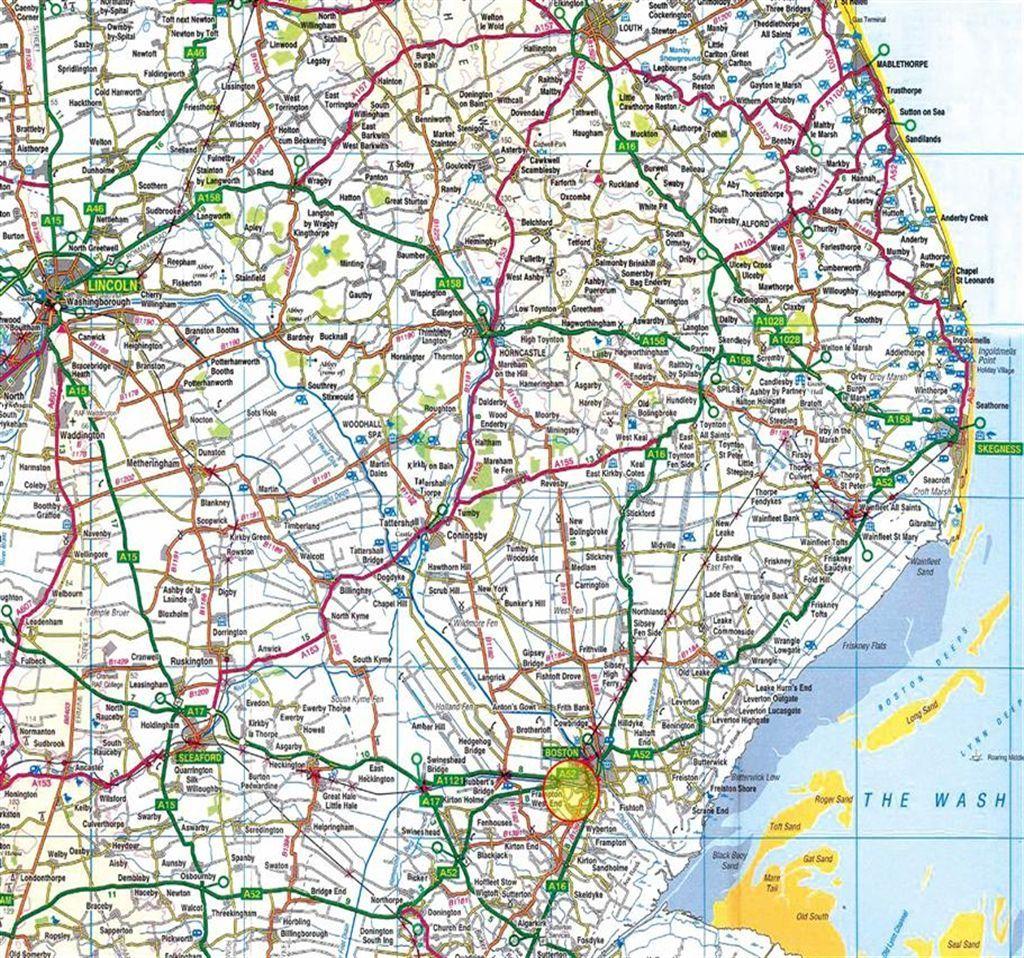 Boston Lincolnshire Map