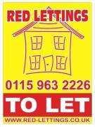 Red Lettings, Hucknall logo