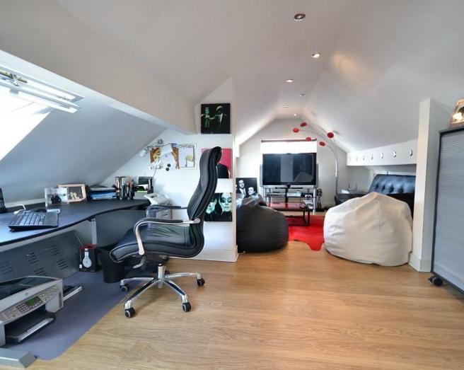 loft conversion office ideas - Beige Loft Conversion Design Ideas s & Inspiration