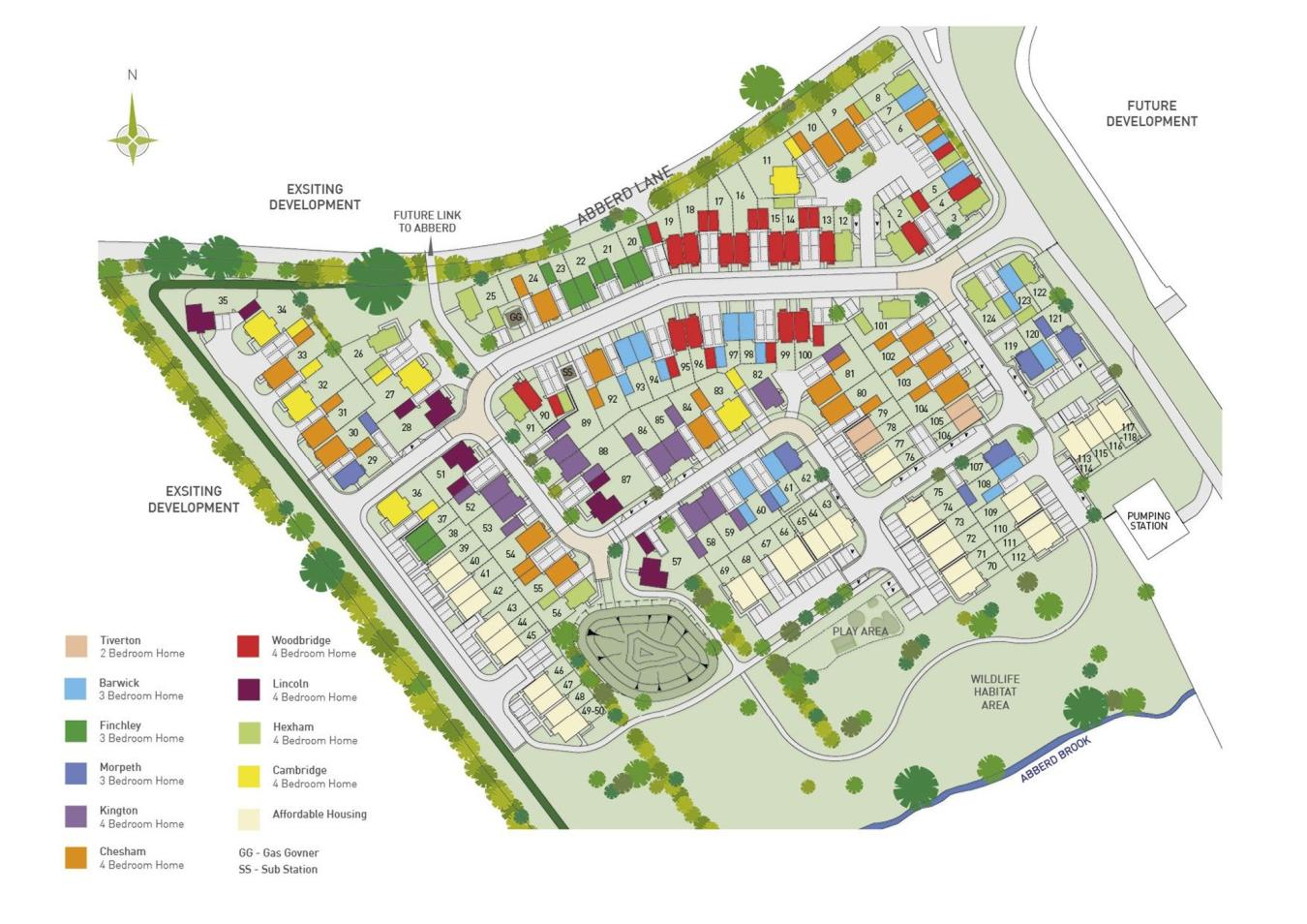 The Rushes New Homes Development by Barratt Homes