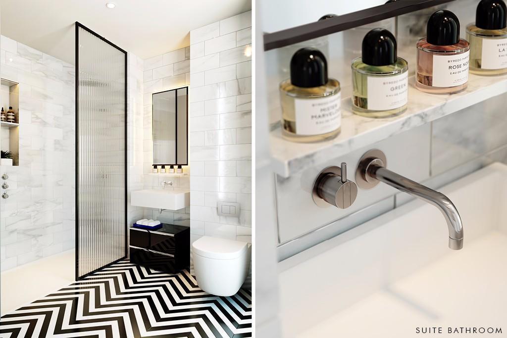 Wardian London,Bathroom detail