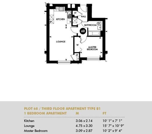 Plot 68 - Lennox Apartments, Third Floor