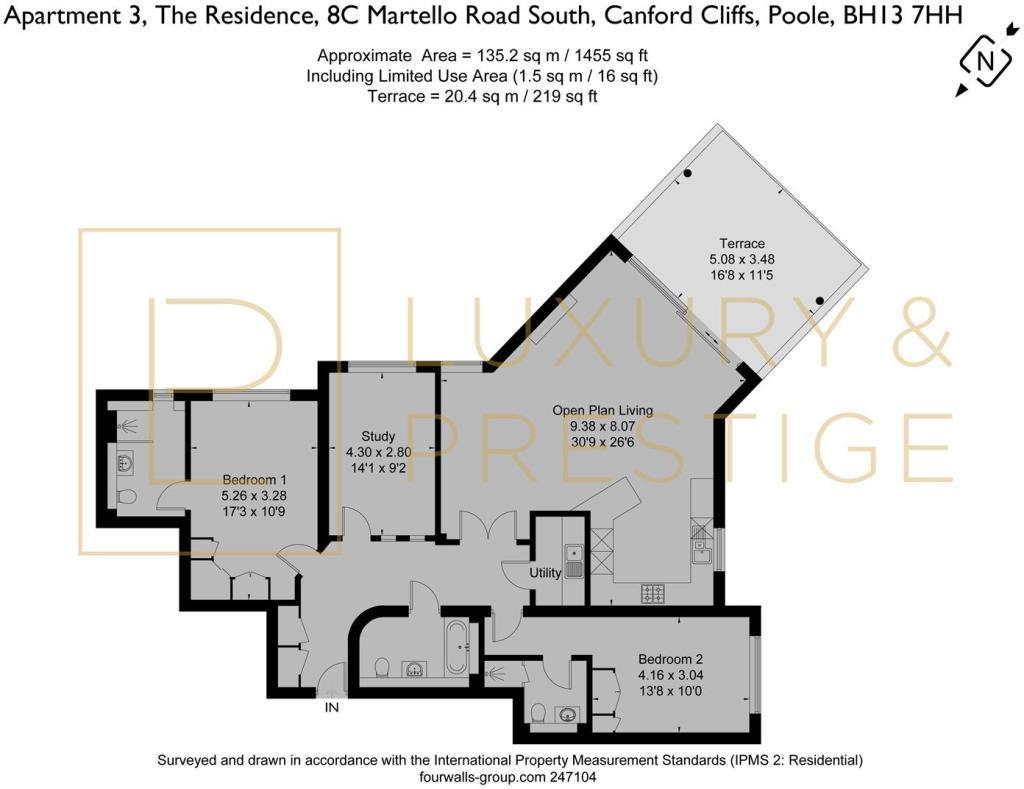 Apt 3 The Residence - Floorplan
