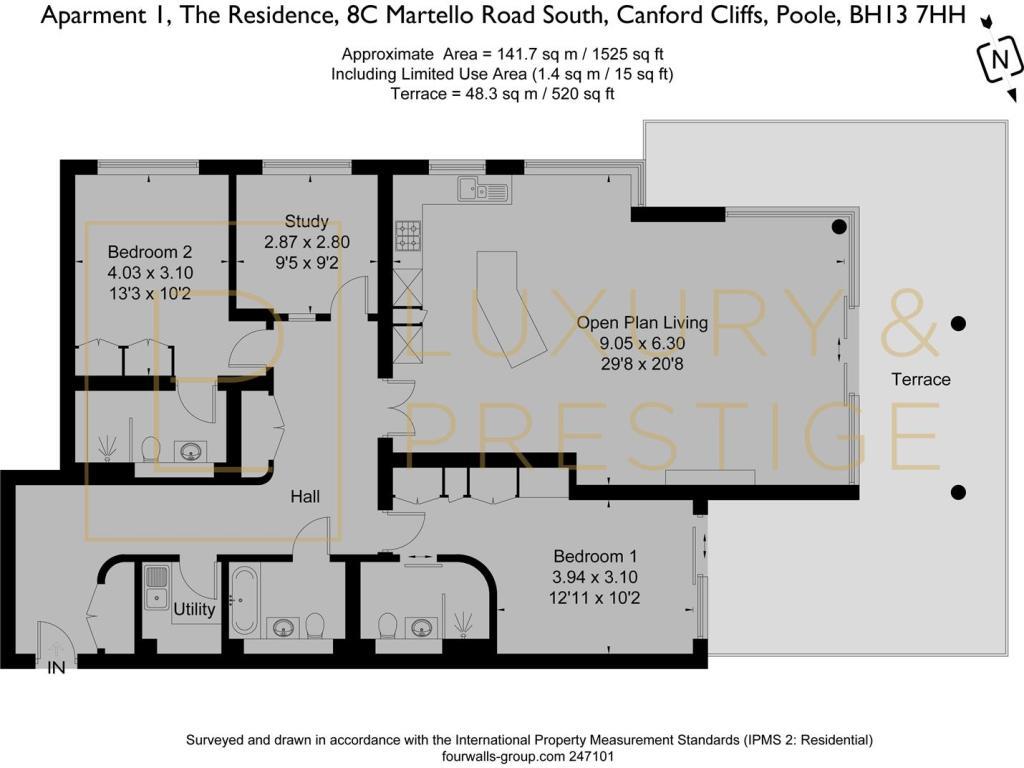 Apt 1 The Residence - Floorplan