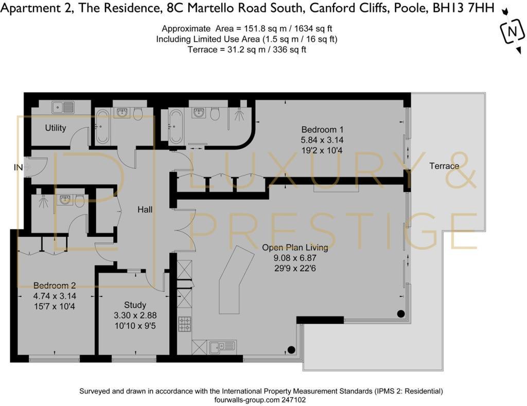 Apt 2 The Residence - Floorplan