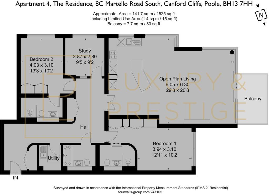 Apt 4 The Residence - Floorplan