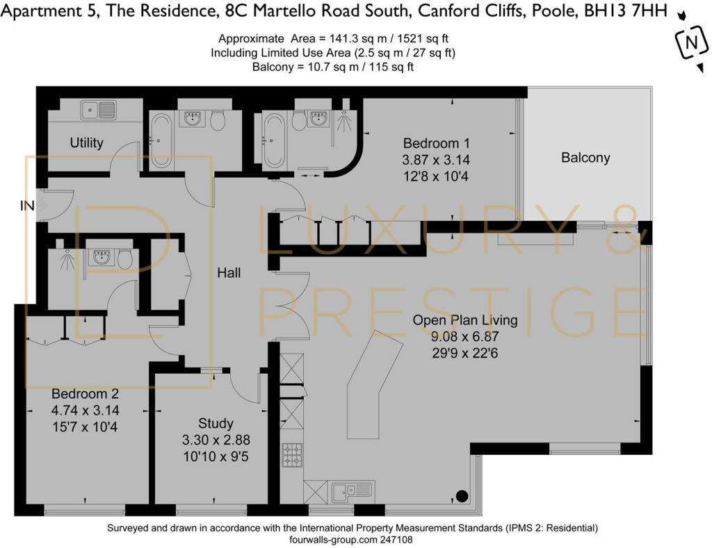 Apt 5 The Residence - Floorplan