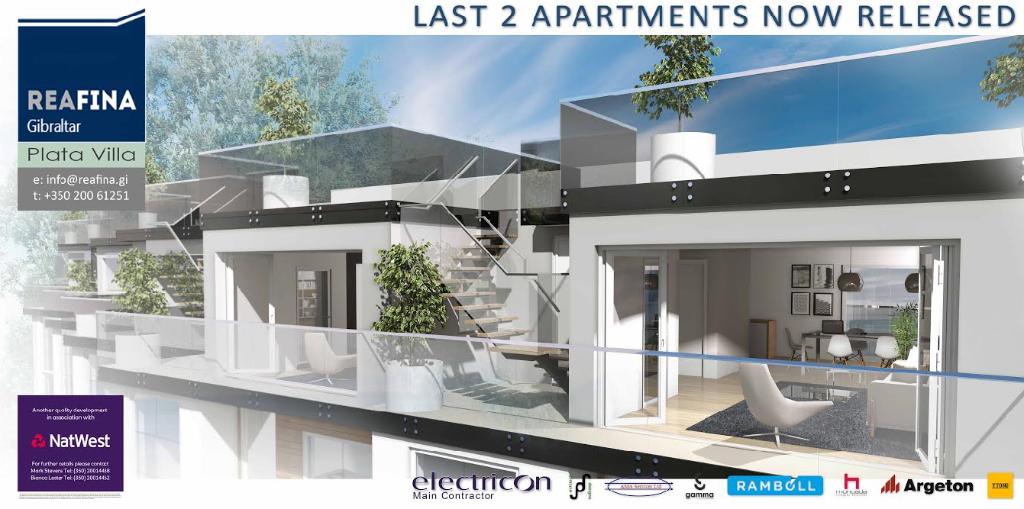 new development in Plata Villa, Gibraltar