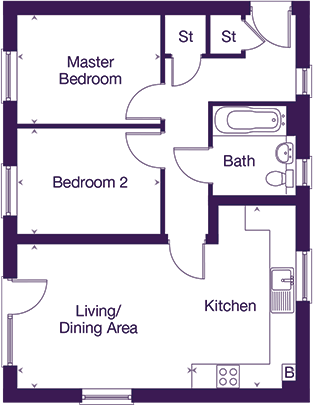 Corston House - Apartment A floor plan