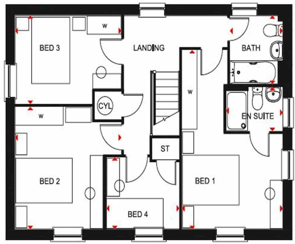 Cornell SF floor plan