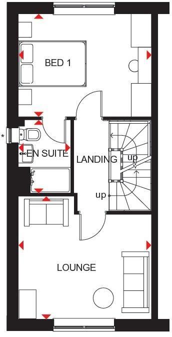 Kingsville first floor plan