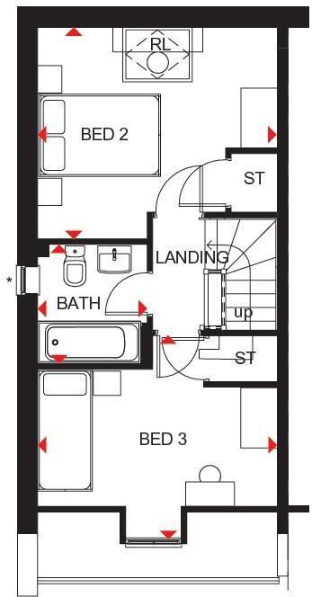 Kingsville second floor plan