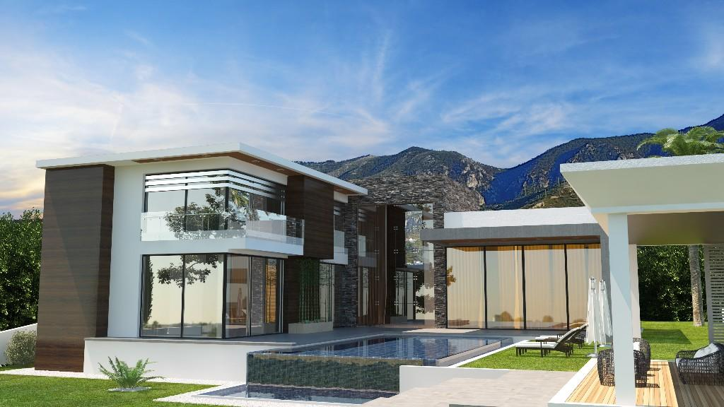 4 bed new development in Bellapais, Girne