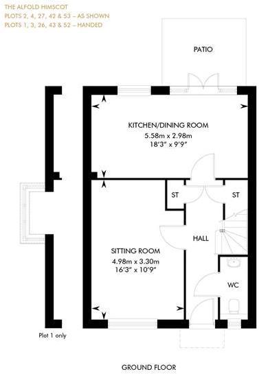 The Alfold Himscot Semi-Detached, Ground Floor