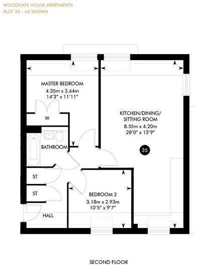 Plot 35, Woodgate House, Second floor , Second Floor