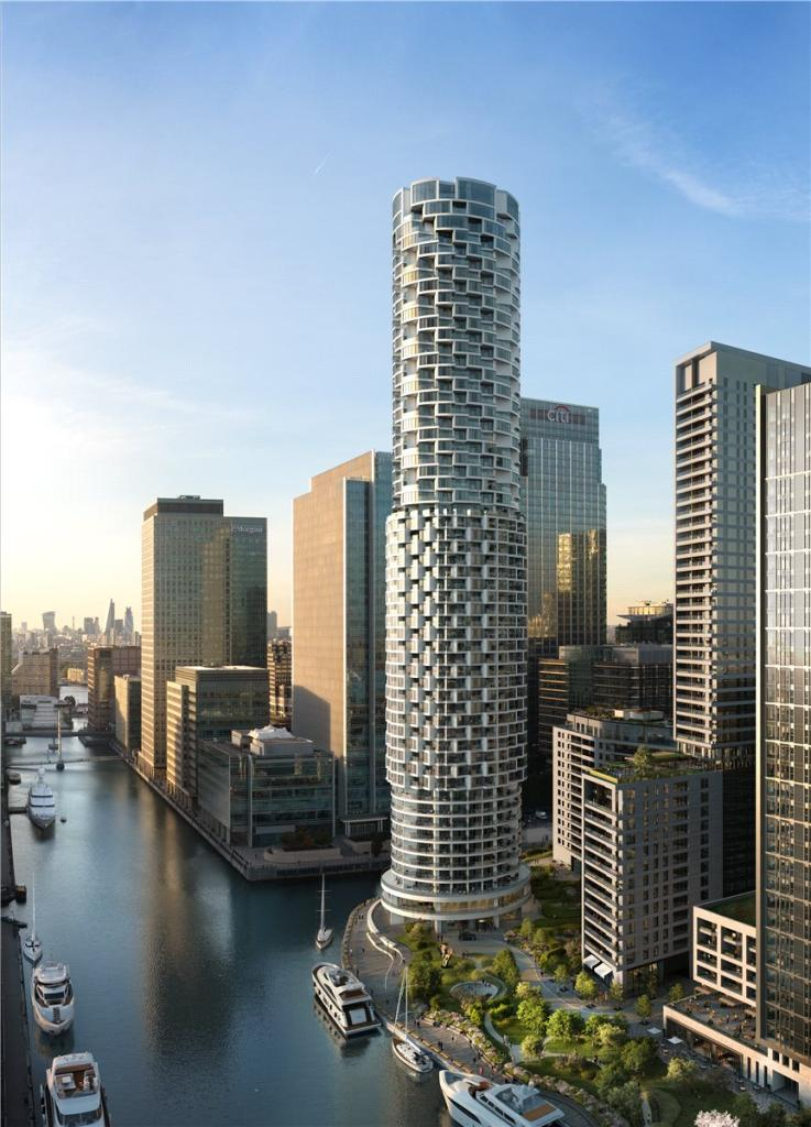Canary Wharf,One Park Drive,Front Elevation