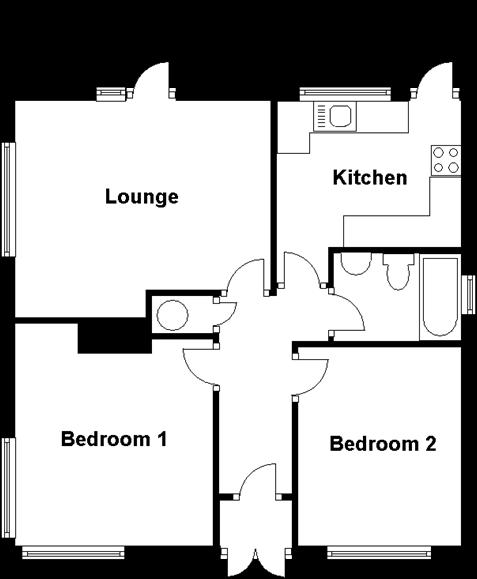 Ground Floor Plan 2 Bedroom Bungalow For In Kings Road Steepleview Basildon