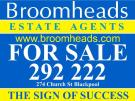 Broomheads Estate Agents, Blackpool logo