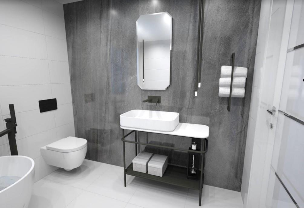 Porcelanosa,Hesler Homes,Bathroom