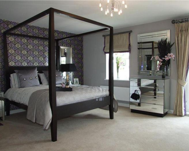Black Four Poster Bed: Click To See A Larger Image