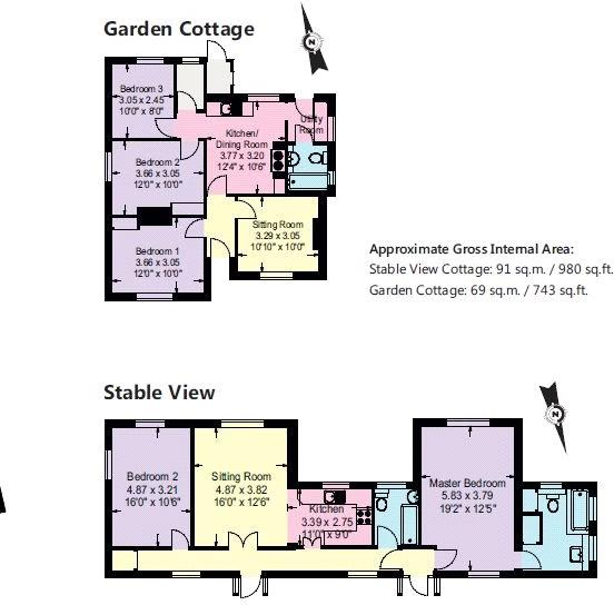 Floorplan Cottages