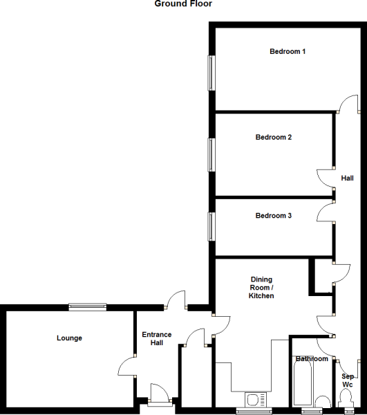 3 Bedroom Bungalow Floor Plans Uk wwwresnoozecom