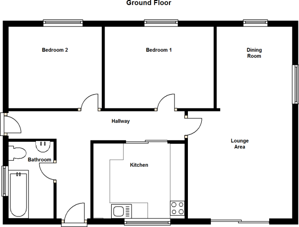 2 Bedroom Bungalow Floor Plans: 2 Bedroom Detached Bungalow For Sale In Queensway, Shotley