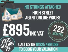 Get brand editions for 222 Estates Ltd, Warrington