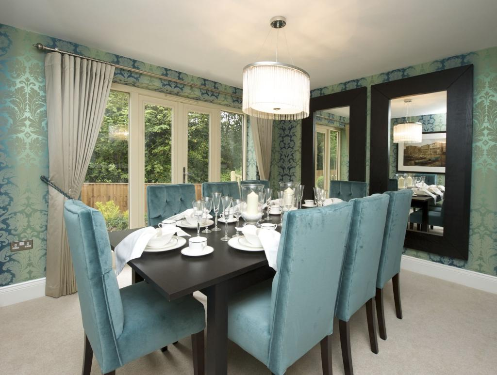 show home dining room | 6 bedroom detached house for sale in The Glade, Guisley ...